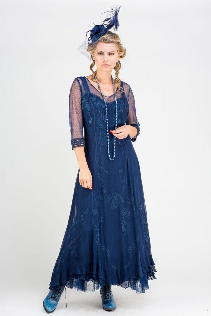 Royal Blue Vintage Inspired mother of the Bride Dress