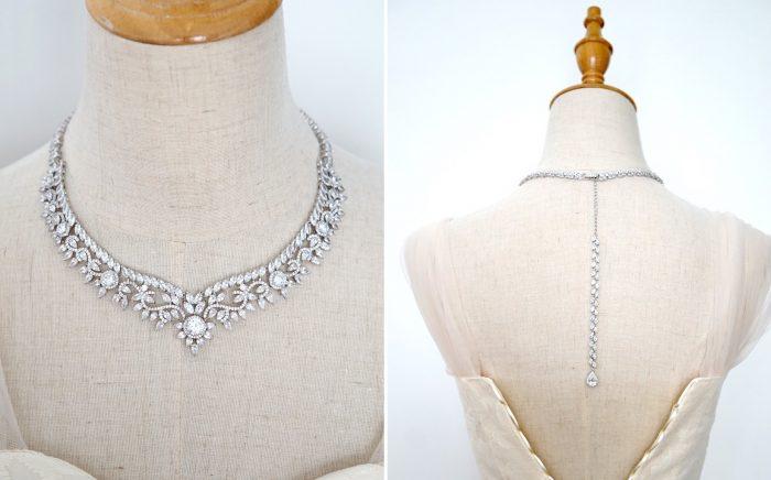 Princess Bridal Necklace Duo