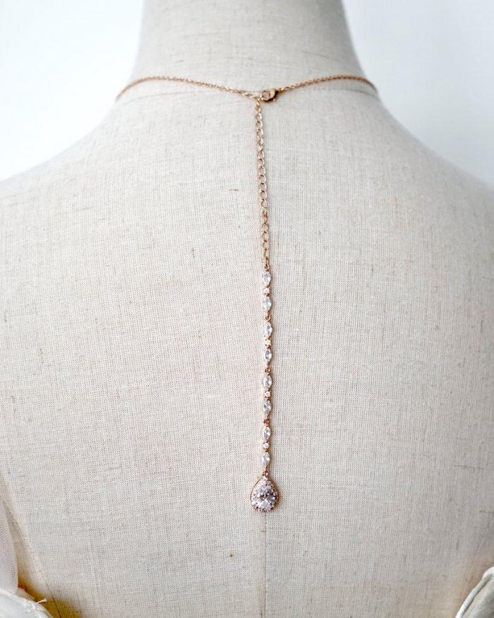 Rose Gold Bridal Necklace Backdrop