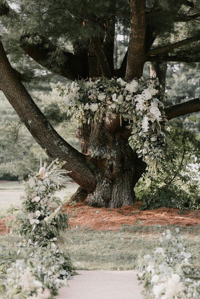 Greenery Wedding Ceremony Florals