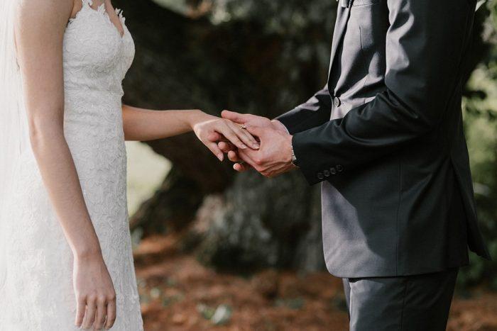 Wedding Ceremony Under a Tree