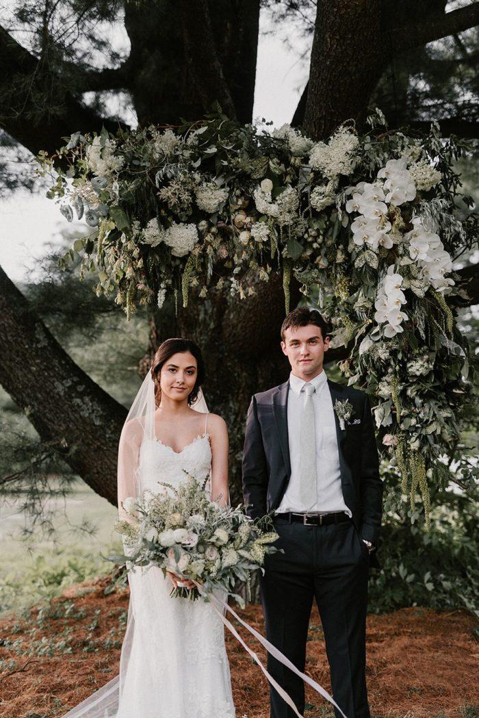 Romantic Wedding Ceremony Under a Tree
