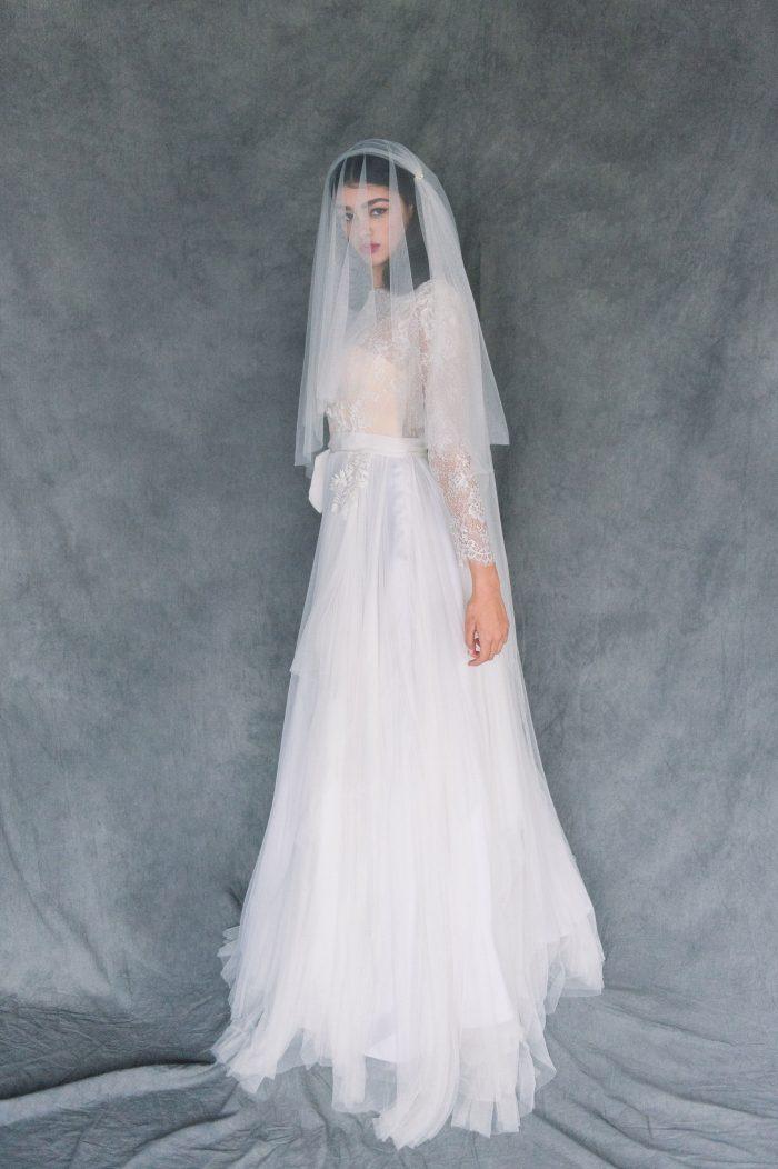 Juliet Cap Veil with Blusher