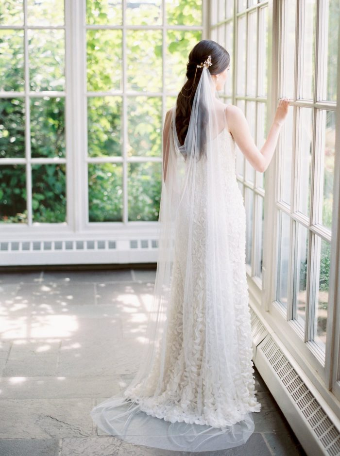 Draped Cathedral Veil