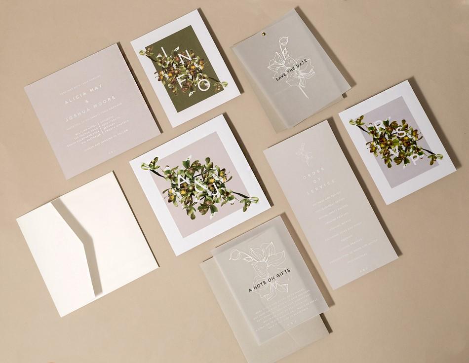 Slipper Orchid Wedding complete set