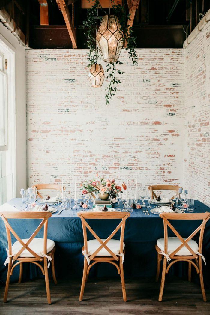 Art Deco Infused Blue Velvet Wedding Inspiration At At