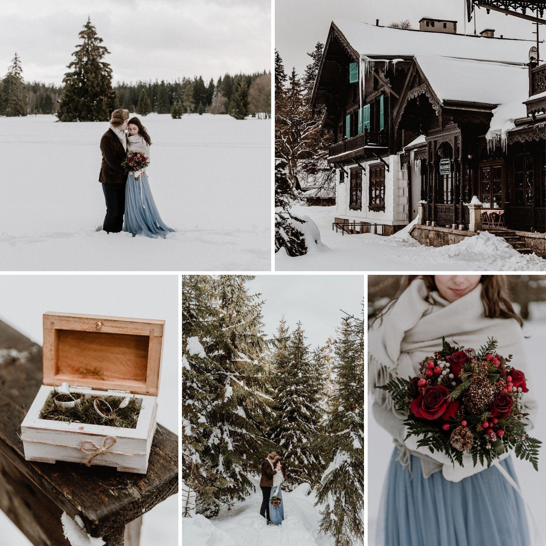 A Fairytale Winter Wedding In The Slavkov Forest